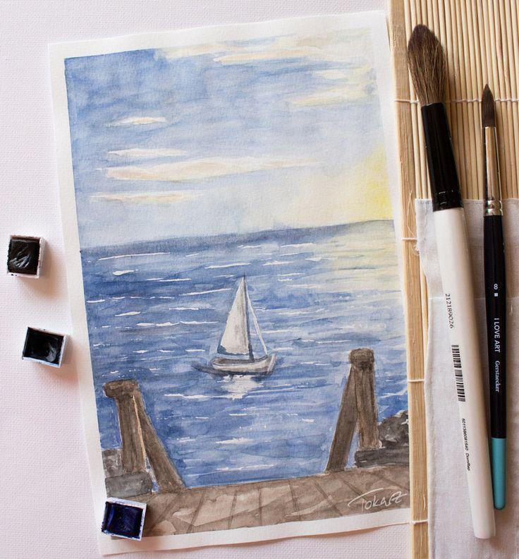 Sailing Away - Watercolour Painting by Pattokarts.deviantart.com on @DeviantArt
