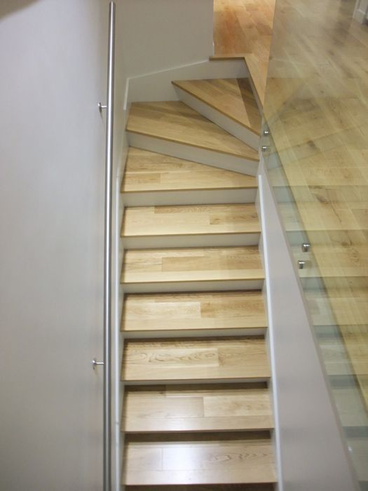 Winder Stairs | White Oak on Stairs with 3 Winder Treads