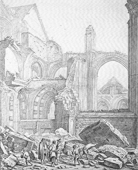 Herman Saftleven, Dom in puin