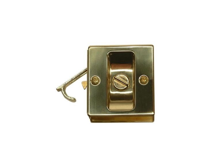 Stanley PD150-62 PD150-62 US3 POCKET  DOOR LATCH # 40-4010 Polished Brass Pocket Door Lock Privacy