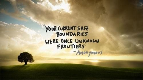Your current safe boundaries... This is very true for my life right now