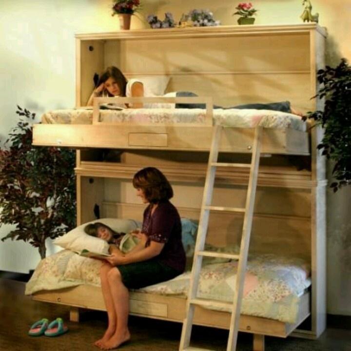 Fold away bunk beds For alain Pinterest