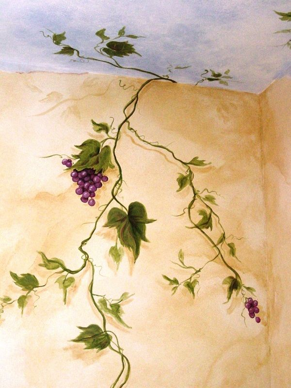 Grapevines Handpainted Accents Amp Murals Haven Artistry