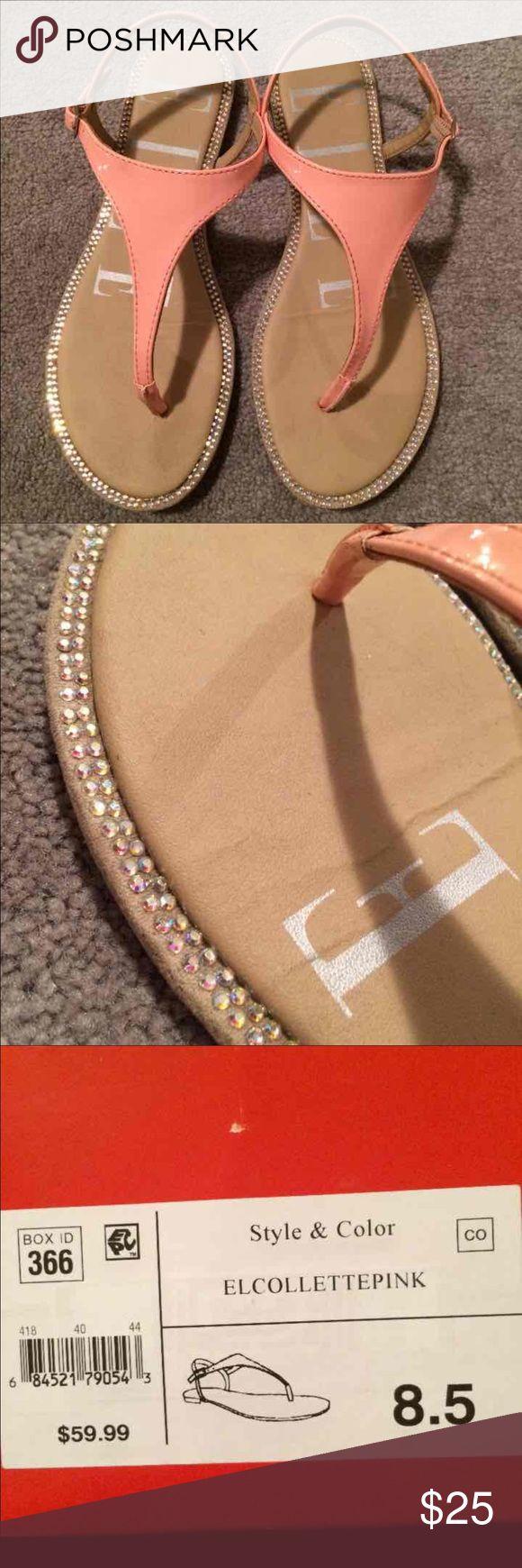 ❤SALE❤ 1 HOUR!! Coral Elle Sandals Gently used Gorgeous Sandals! Size 8.5 Elle Shoes Sandals