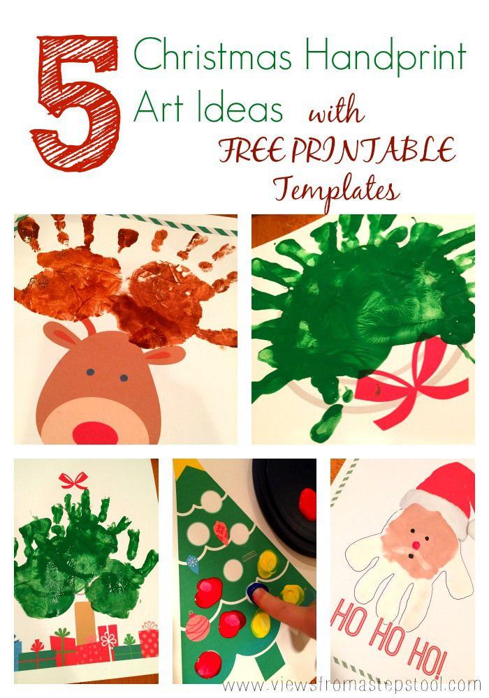 5 Christmas Handprint Art Templates For Gifting Decor Or