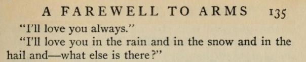 """"""" by Ernest Hemingway. """""""