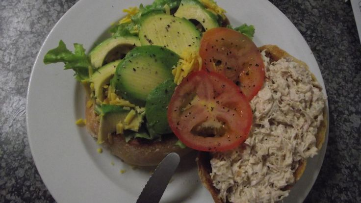 Toasted Paninni with Chicken Mayo, Avo and Cheese, Tomato and Lettuce