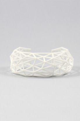New Geometry 3D- bransoletka biała