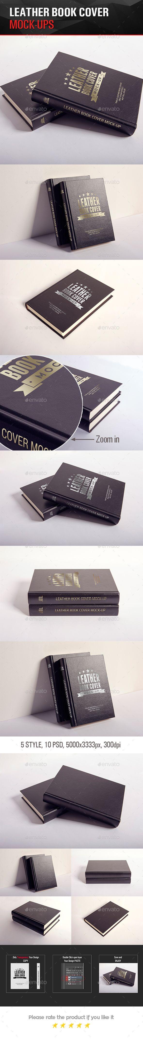 Leather Book Hard Cover Mock-Up #design Download: http://graphicriver.net/item/leather-book-cover-mockup/14144460?ref=ksioks