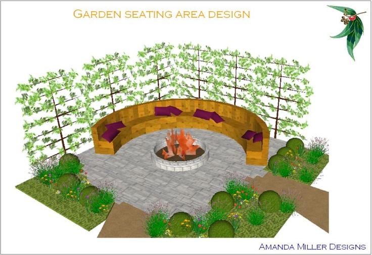 Sketch up garden seating idea