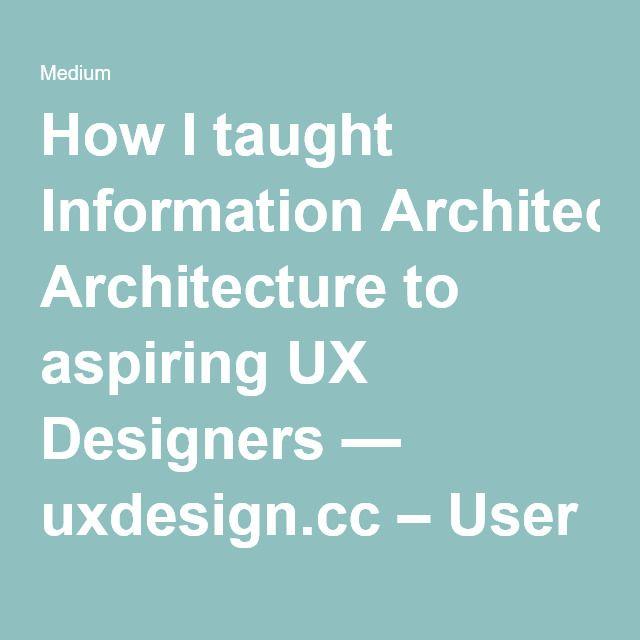 25+ parasta ideaa Pinterestissä Information architecture - user experience architect sample resume