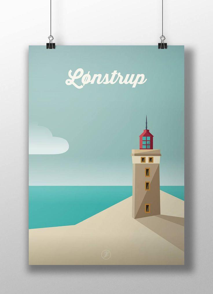 Lønstrup. poster, design, art, illustration, adobe, artwork, Denmark