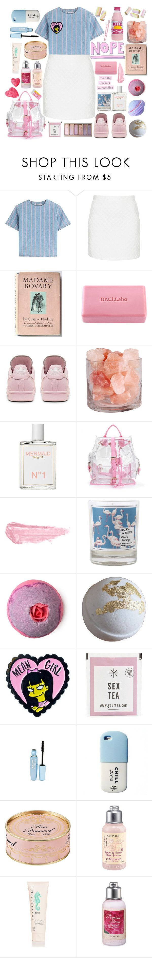 """Bitter sweet candy on the tongue after the kiss"" by anna-modestovna ❤ liked on Polyvore featuring T By Alexander Wang, Topshop, Dr.Ci:Labo, adidas, Mermaid, By Terry, Maison La Bougie, BOBBY, Justin Bieber and Maybelline"