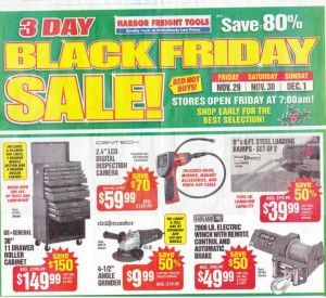 Harbor Freight's Black Friday 2013 Ad Scan  #BlackFriday #HarborFreight #tools #home #appliances #shopping #shopfordad #shopforguys #adscan #adleak