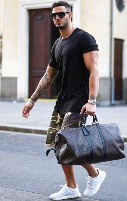 3f164de7657a gym time after work   mens fashion    gym bag    sunglasses    watches    mens  fashion    urban men    boys    style    menswear    mens short    -  clothing ...