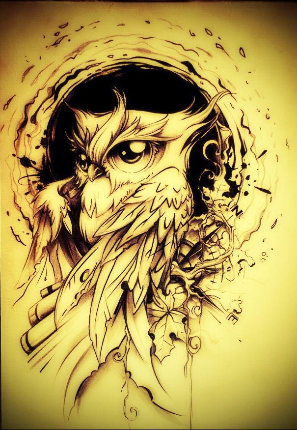 Ideia p tattoo coruja