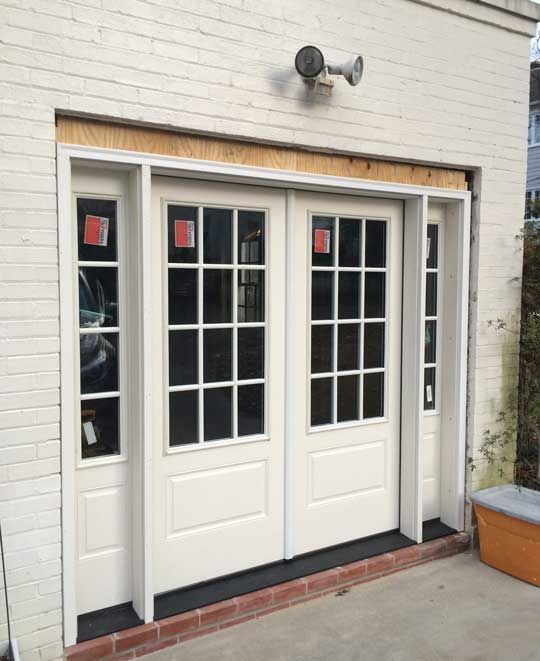 In With The Garden Room French Doors One Goal Here Was To Make Garage That Look Like