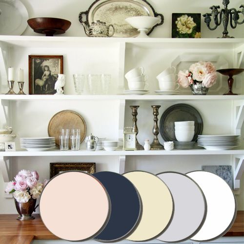 China Cabinet Palette - Farrow & Ball Calluna, Drawing Room Blue, House White, Pink Ground, Wimborne White