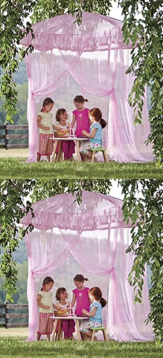 Canopies and Netting 176986: Lighted Bed Canopy Sparkling Lights Bower Kids Girls Princess Children Bedroom -> BUY IT NOW ONLY: $133.99 on eBay!