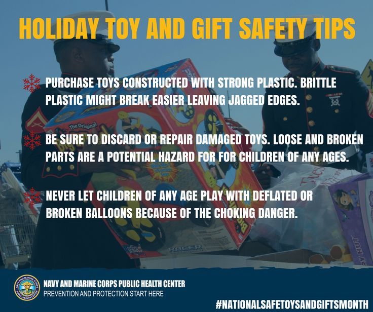 It's easy to get wrapped up in holiday gift giving, but remember these quick safety tips to keep the kiddos safe