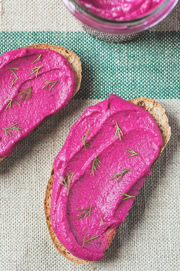 Pasta z pieczonych buraków i fasoli » Jadłonomia