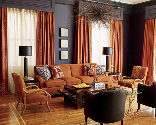 Best Grey And Rust Curtains Palette Of Navy Blue Rust Adds 640 x 480