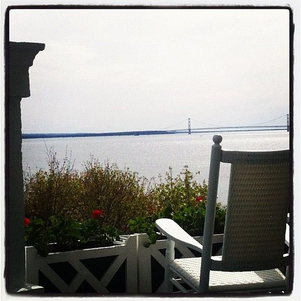 A pure Michigan view from a rocking chair on the World's Longest