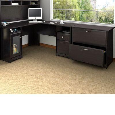bush industries cabot lshape executive desk office suite u0026 reviews wayfair