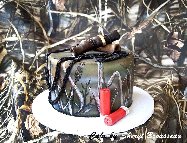 Duck Hunter cake I made for my son-in-law, DL, for his birthday Sunday. Chocolate cake with a peanut butter and ganache filling (tasted like Reeses cup inside). I handpainted the camo pattern to match a piece of Advantage camo material. The duck calls are made of modeling chocolate and the shotgun shells are fondant. - British Country Clothing offer a range of quality British made clothing ideal for country pursuits