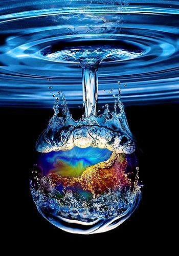 Blue water drop....
