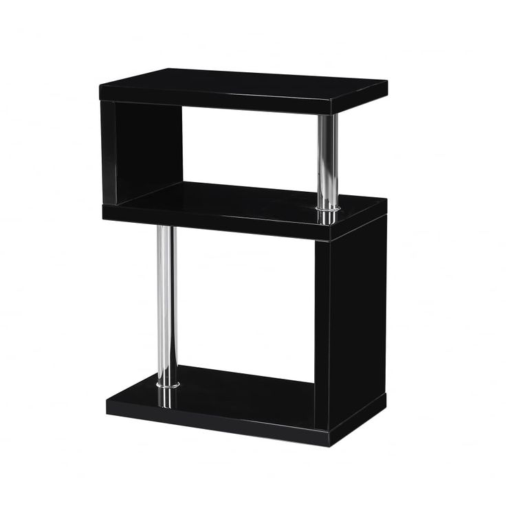 Best Mfs Furniture Miami Black High Gloss Side Table Stunning 400 x 300