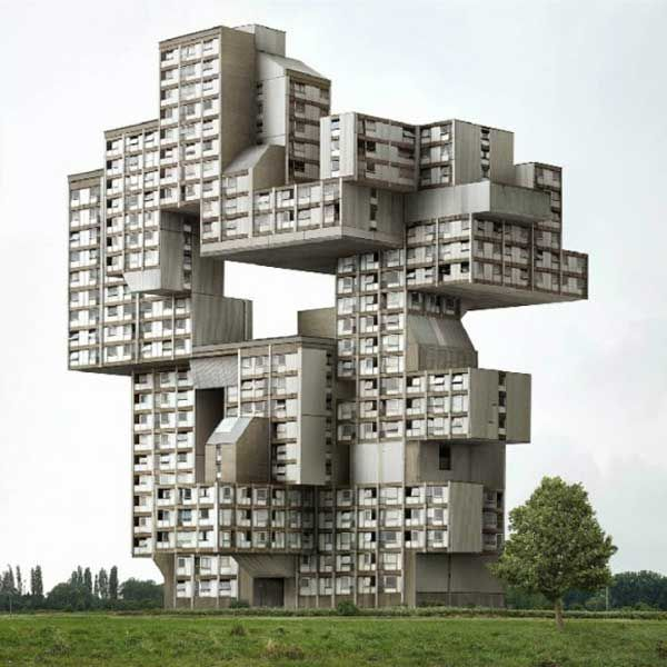 Filip Dujardin's Impossible Architectural Photography  #collage #mashup #fiction