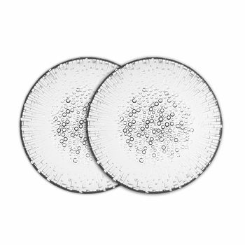Iittala Ultima Thule Anniversary Salad Plates (Set of 2) | 2015 marks the 100th anniversary since Tapio Wirkkala's birth, and this set of two dewdrop-kissed plates is the perfect commemoration and celebration of his life and works.