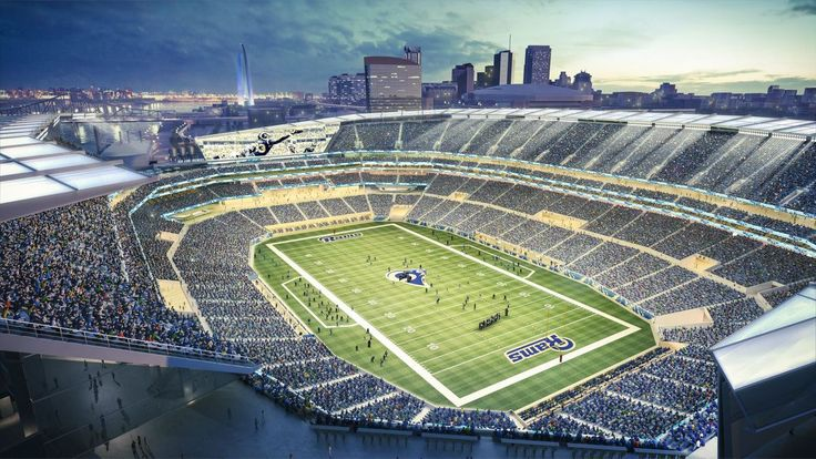 Edward Jones Dome - Arenas & Stadiums - Edward Jones Dome is a Massive, 66,000-seat indoor arena that's home to pro football's St. Louis Rams