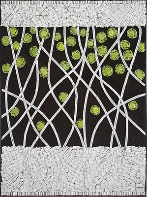 """From Lichen"" mosaic by Rachel Bremner"
