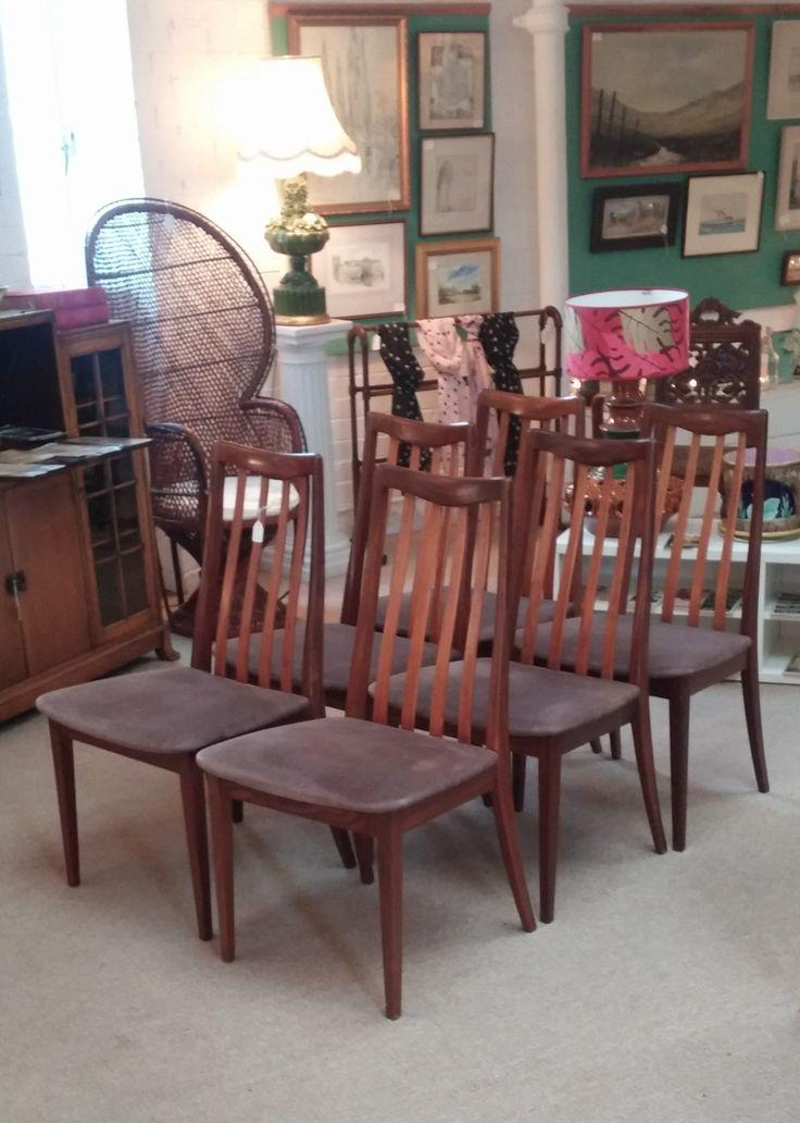 6 G Plan Teak Dining Chairs