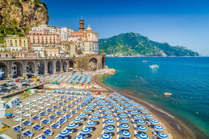 Historic Town Of Atrani Amalfi Coast Campania Italy