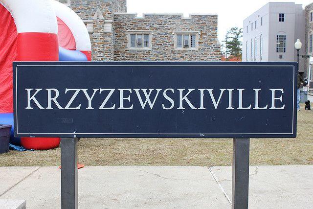 Krzyzewskiville, on the campus of Duke University