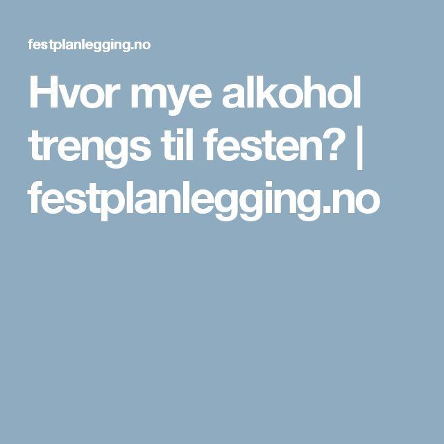 Hvor mye alkohol trengs til festen? | festplanlegging.no