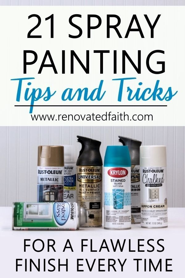 21 Easy Spray Painting Tips Tricks For A Flawless Finish Free Checklist Painting Tips Spray Painting Painting Walls Tips