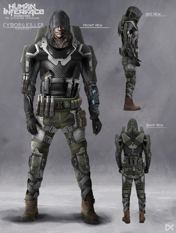 ArtStation - Human Interface - Character concept art ( Cyborg Killer ), Darius Kalinauskas