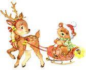 Новый год и рождественский фон для карты с праздником украшают — стоковое фото
