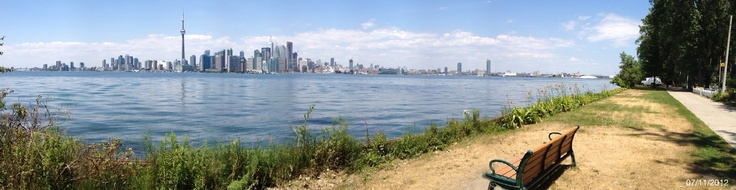 My iPhone 4s is not a Toy its a real Tool. I was able to stitch a clean seamless horizon photo with the Panorama App in a matter of seconds with no editing involved. I took this pict in July 2012 from Toronto Island. - Source: @Bendrix (Upload)