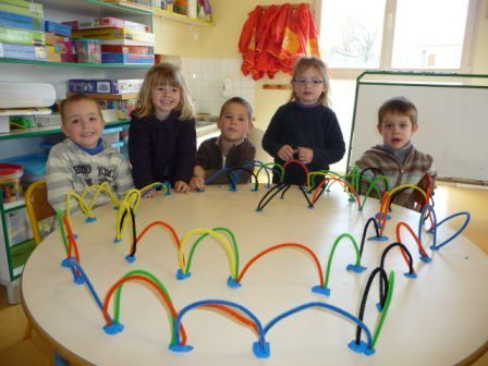 Pipe cleaner line designs - with clay!