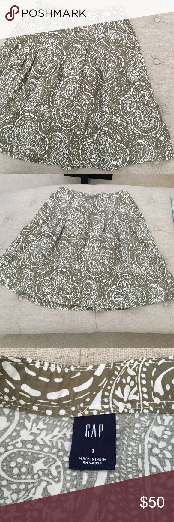 Gap Skirt Beautiful Gap Skirt Size 1 approx knee length. Too small for me. As you can see, the inside tag hasn't been removed. NWOT condition . Bundle to save; offers considered GAP Skirts