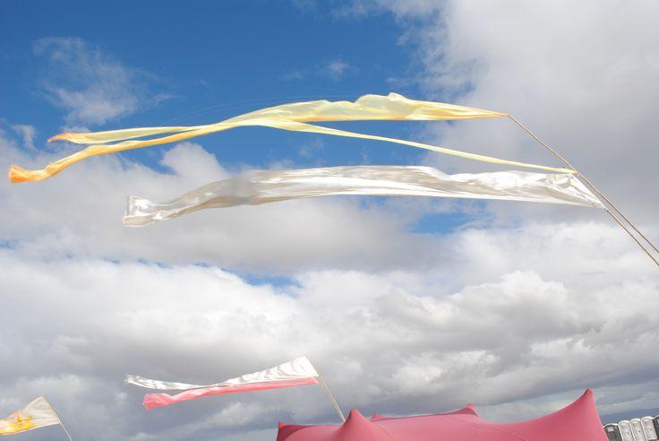 Flying flags at Afrikaburn