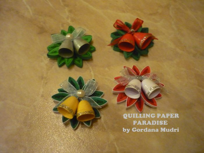 Quilled paper paradise bo i ne estitke 3 dio christmas for Decoration quilling