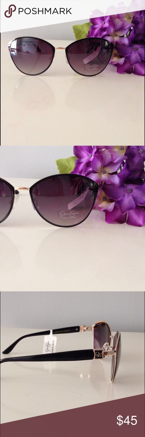 Chic Round High Bridge Sunglasses So chic oversized round shades. Brand new with tags gold hardware. Jessica Simpson Accessories Sunglasses