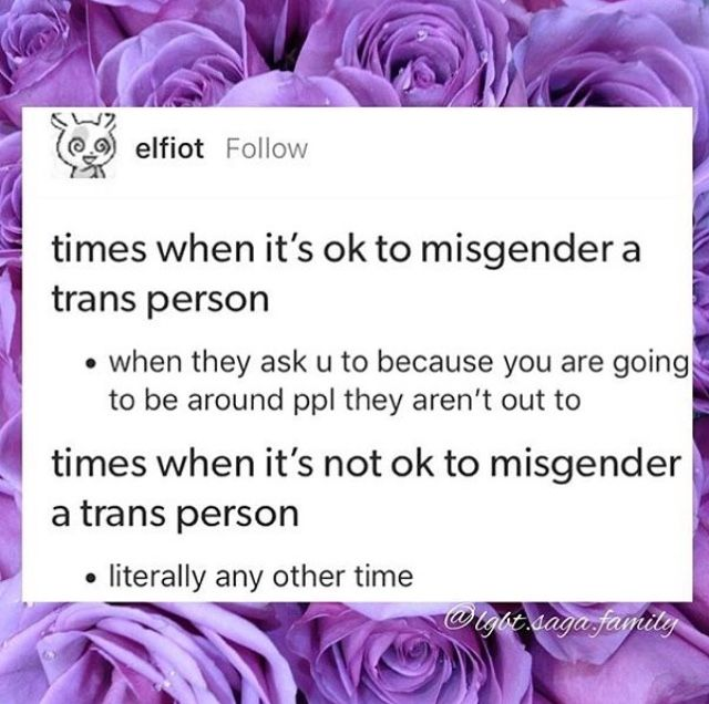 If the proper gender is going to put them at risk then we need to listen to them and misgender them. It's better to suffer misgendering than possibly outing them to prejudiced people or inciting actual danger and physical consequence by friends or family.