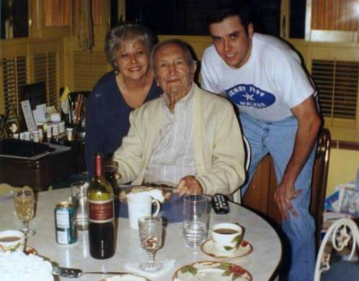 The Godfather - Joseph Bonanno in his later years.  This intimate Family photo is credited to Daniel Bonnano Torbitt.